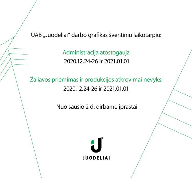 UAB Juodeliai darbo grafikas šventiniu laikotarpiu