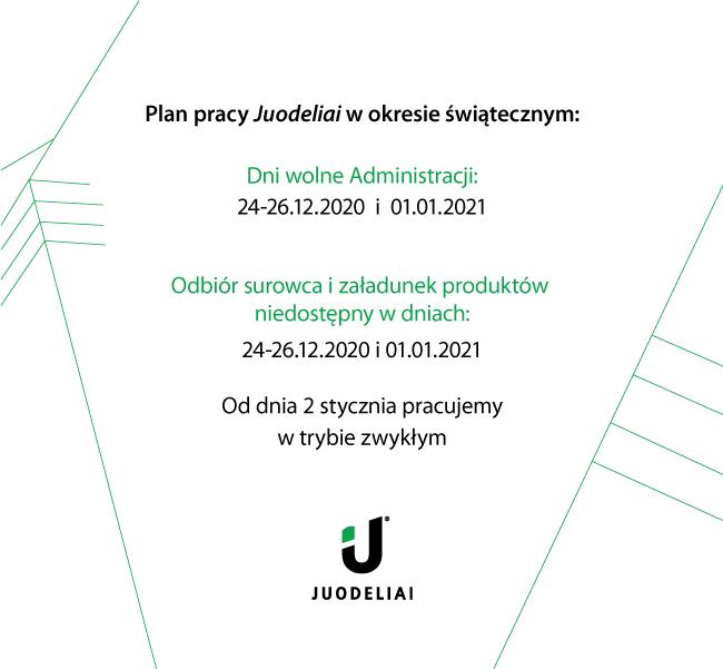 Plan pracy UAB Juodeliai w okresie świątecznym