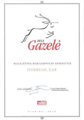 Apdovanojimas Juodeliai